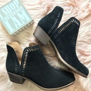 New Lucky Brand Suede Leather Bustina Ankle Bootie